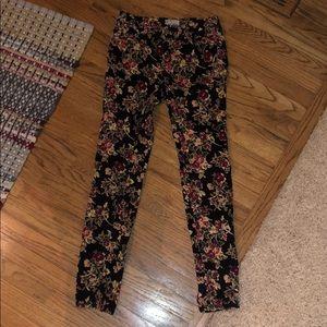 Free People Floral Corduroy Pants